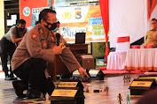 Antisipasi Kerawanan Pilkada, Polresta Mataram Gelar Pelatihan Tactical Floor Game