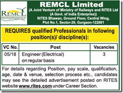 REMCL Limited Engineer Notice 2018 www.indgovtjobs.in