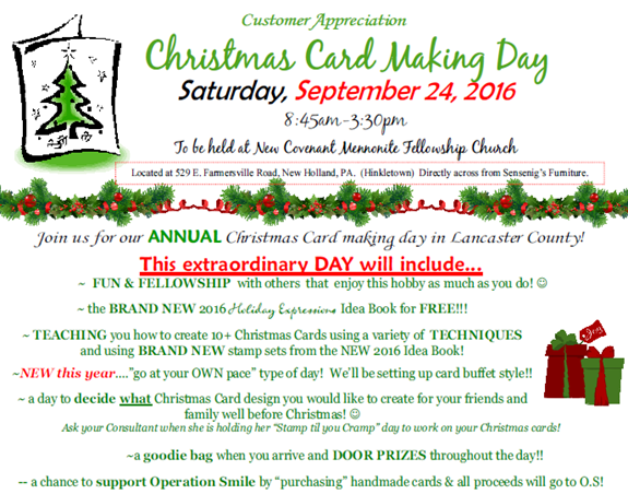 2016-9-24 Christmas Cardmaking Day details