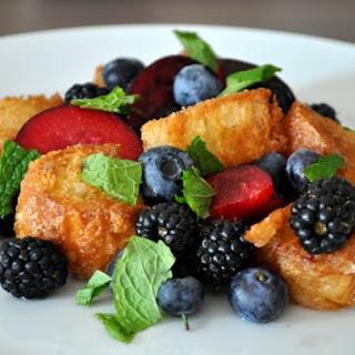 Summer Fruit Panzanella.