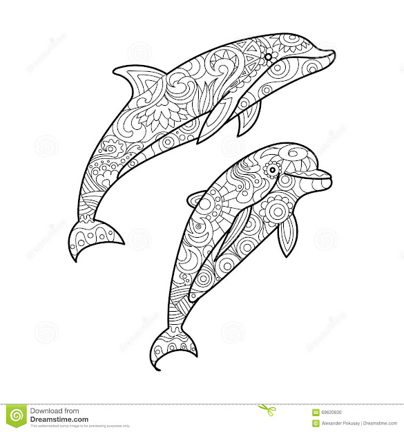 Best HD Sea Animal Coloring Pages For Adults Design