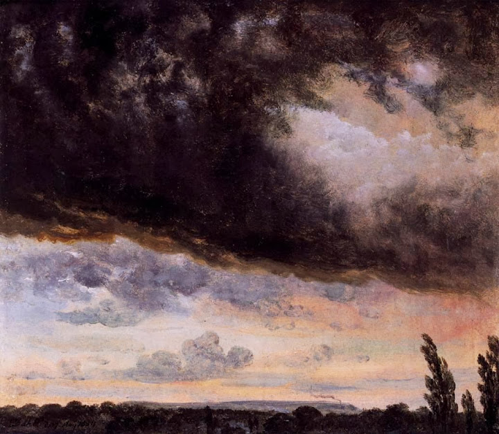 Johan Christian Dahl - Cloud Study with Horizon