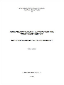 [Oetke: Ascriptions of Linguistic Properties..., 2012]