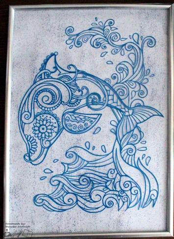 Schilderij Dolfijn 2