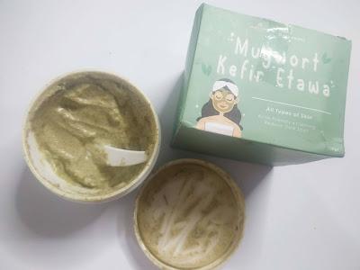 Tekstur masker Mugwort Kefir Etawa