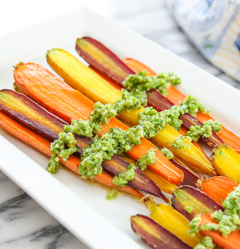 photo of Roasted Carrots with Carrot Top Pesto