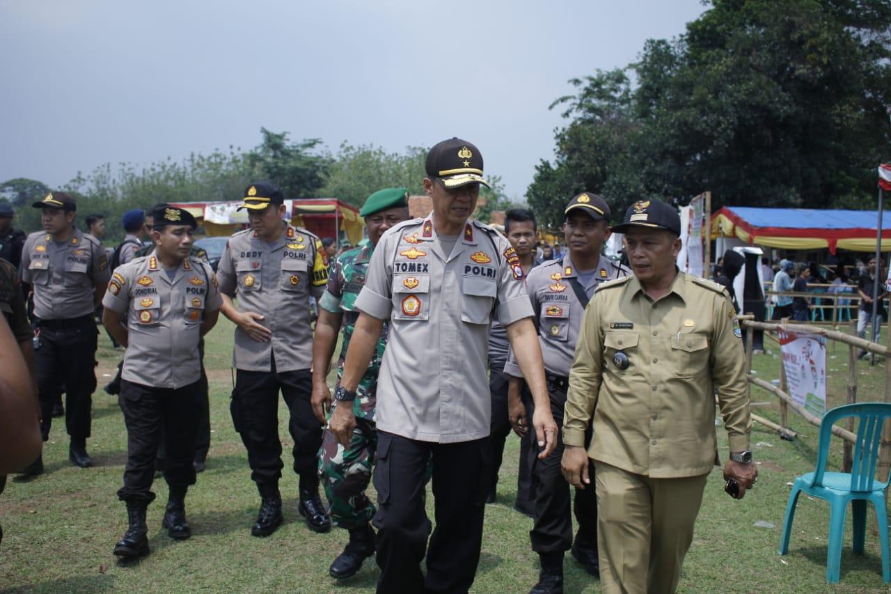 Wakapolda Banten Pastikan Tahap Pungut Suara dan Penghitungan Pilkades Berjalan Kondusif