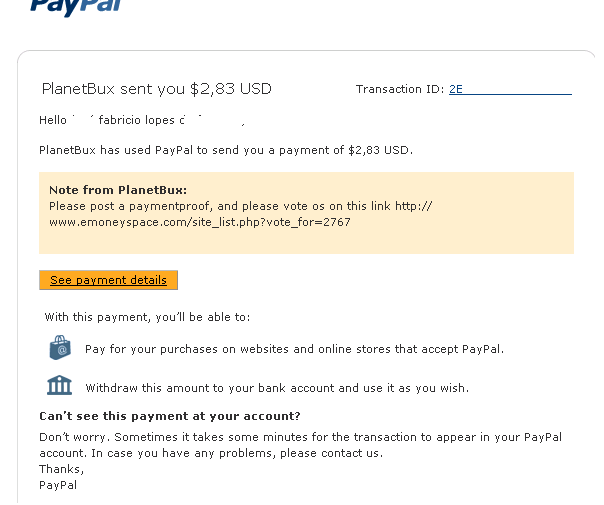 planetbux proof of payment paypal