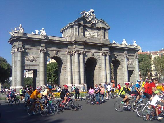 Fiesta de la Bicicleta de Madrid 2013, el domingo 6 de octubre
