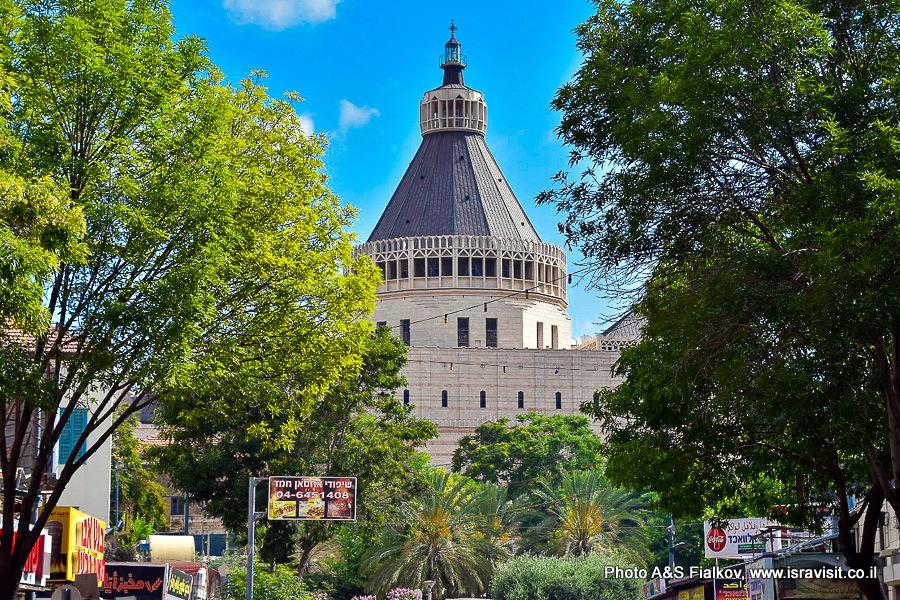 Назарет. Базилика Благовещения.  Экскурсия по Галилее. Гид в Израиле Светлана Фиалкова.