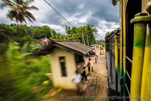 Train in motion Sri Lanka 1