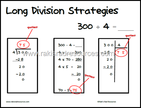 long operations posters - help students learn three different strategies for addition with regrouping, subtraction with regrouping (borrowing), multiplication with regrouping and long division. Free download to build global math learners from Raki's Rad Resources.