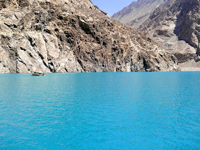 We took a boat ferry ride to cross Attabad lake.