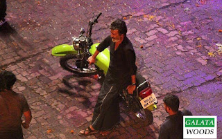 Rajinikanth's bike in kaala gets attention among his fans : photos and stills