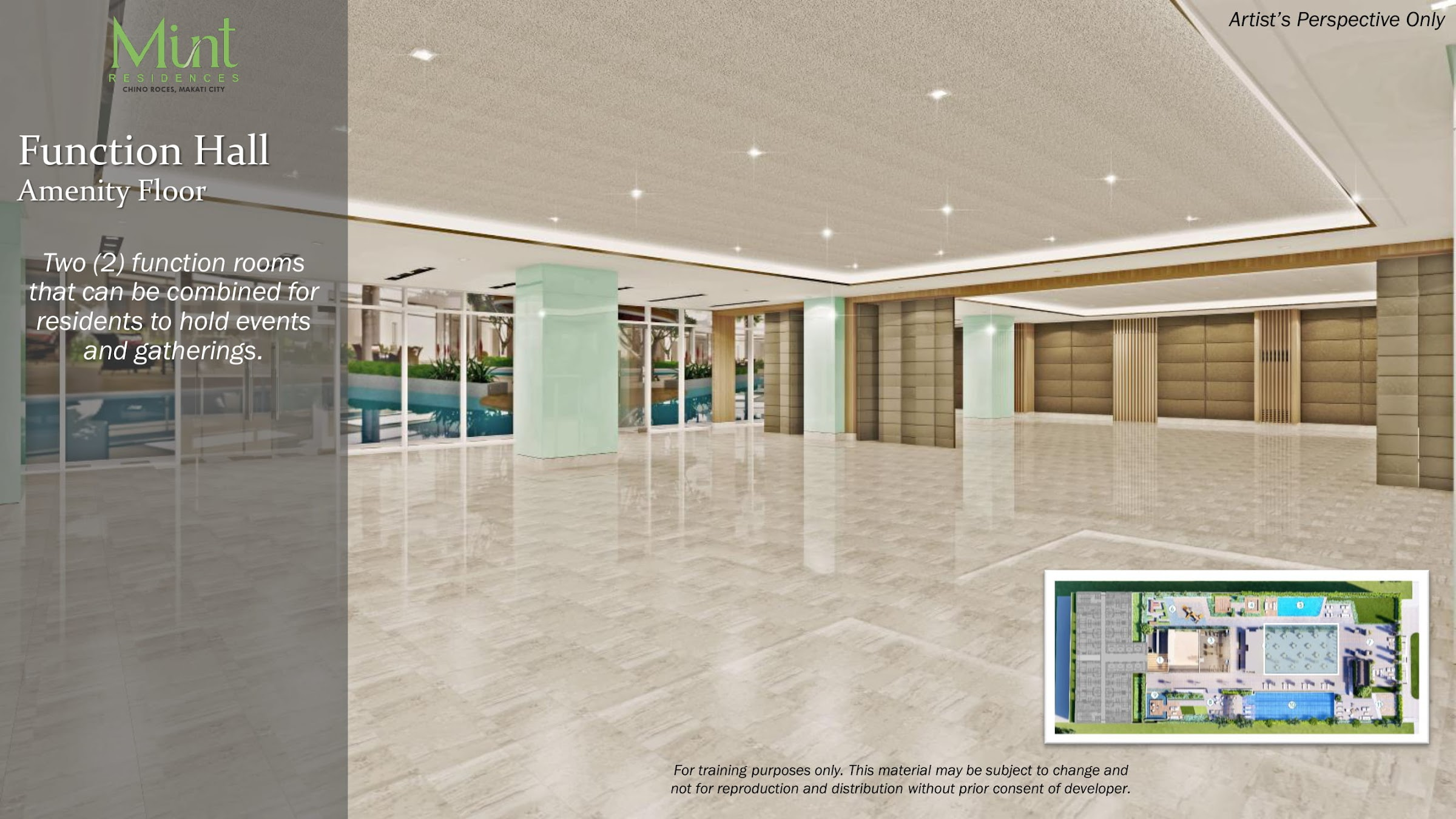 Mint Residences, Chino Roces Makati function hall