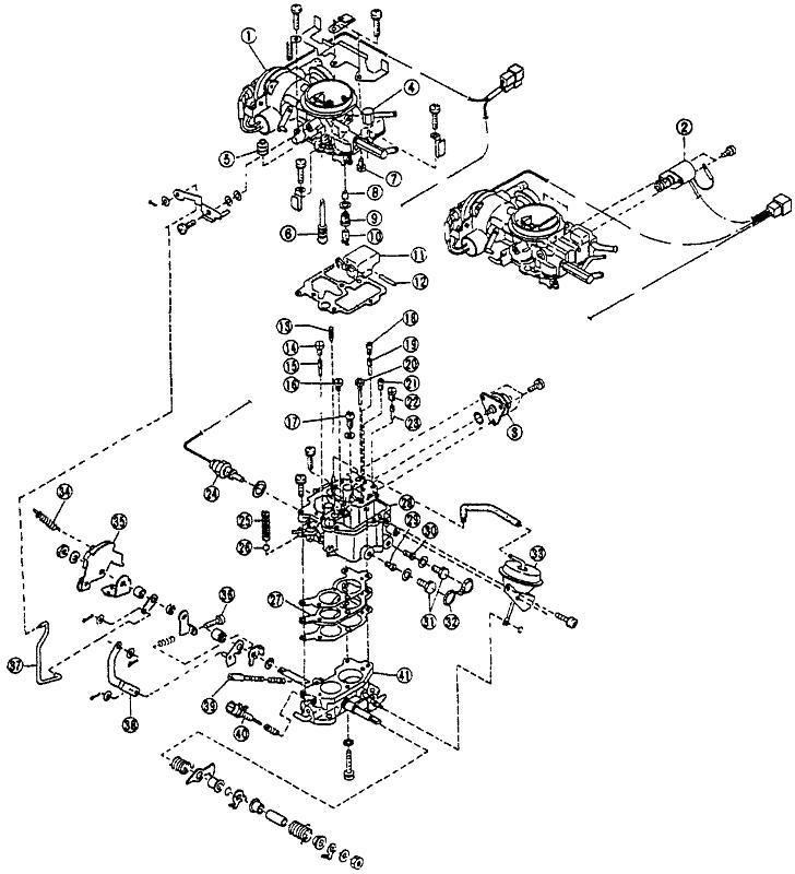 Элементы карбюратора Hitachi