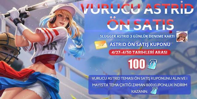 Vurucu Astrid Kostümü Ön Siparişe Açıldı - Arena of Valor