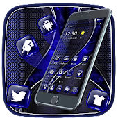 Dark Blue Leather Theme Android APK Download Free By Fancy Theme Palace