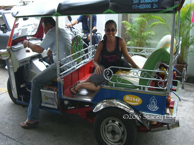 A tuk-tuk. From Through the Eyes of an Educator: Bangkok, Thailand
