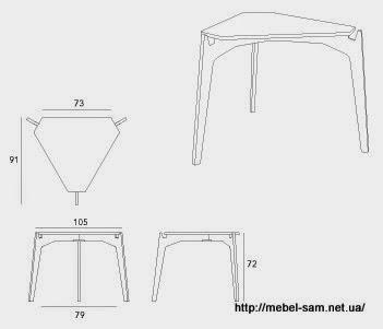Чертежи и габаритные размеры фанерного стола