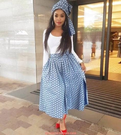 Lesotho Seshoeshoe Designs 2019 : Beautiful Shweshwe Dress