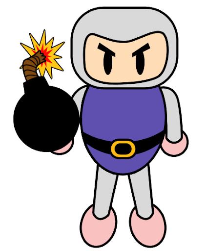 Bomberman antes da etapa de luz e sombra