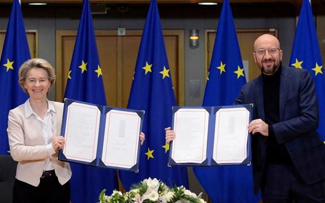 Brexit: Υπέγραψαν τη συμφωνία Φον ντερ Λάιεν-Μισέλ