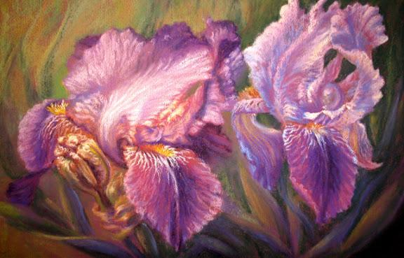 """Iris Velvet II"" by artist Linda Wilmes."