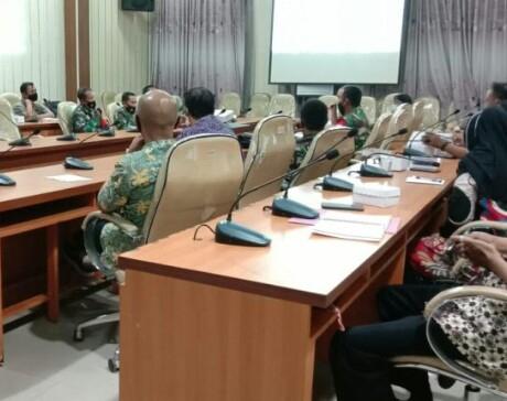 Plt Bupati Kyai Mukiq Arif Pimpin Rapat Koordinasi TMMD Ke 110 Bersama Dandim  0824 .