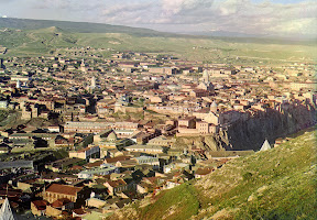 Вид на Тбилиси из церкви святого Давида, 1910 год
