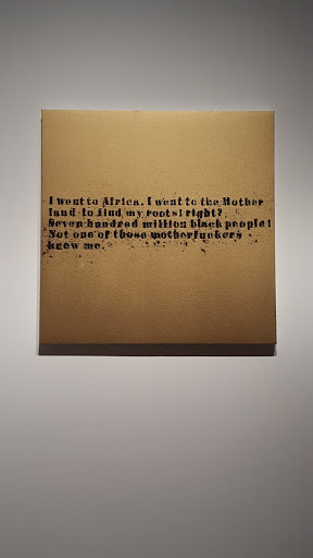 Gold Nobody Knew Me #1. Glenn Ligon, 2007, acrylic and oil stick on canvas. Love, Change, and the Expression of Thought: 30 Americans at the Detroit Institute of Arts