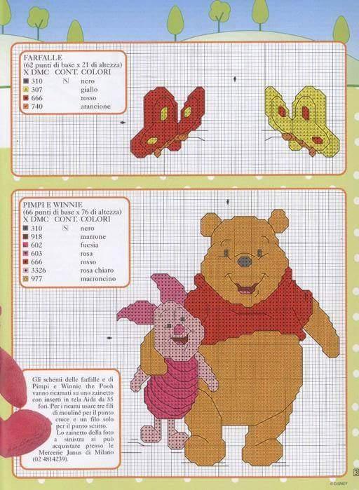 lo spazio di lilla winnie the pooh e i suoi amici schemi