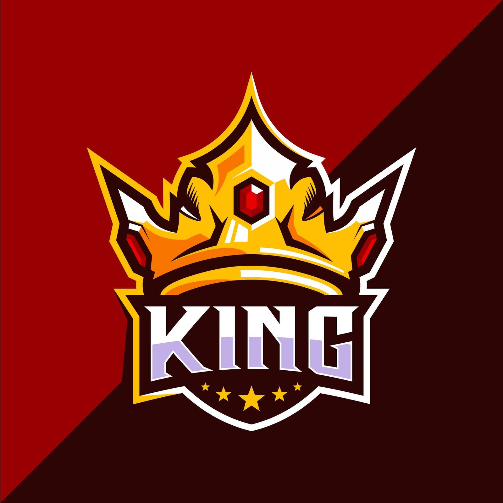 King Crown Esport Logo Design Free Download Vector CDR, AI, EPS and PNG Formats
