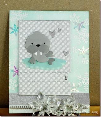 walrus snowflake ty card
