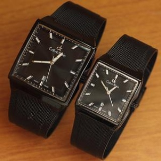 jam tangan couple Calvin klein full black metalik