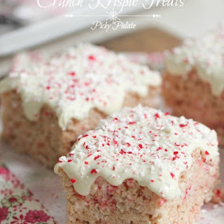 Candy Cane Crunch Krispie Treats