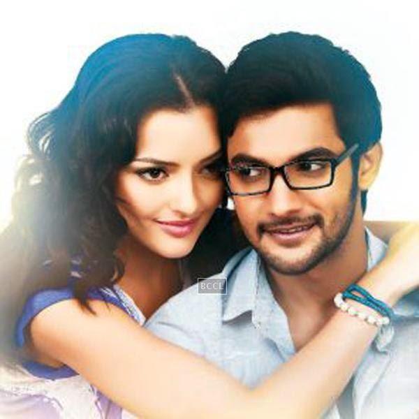 Aadi and Kristina Akheeva in a still from Telugu movie Galipatam. www.gulte.com