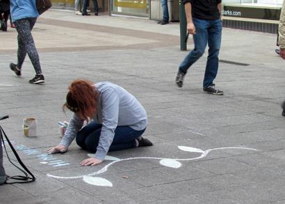 17050293 May 17 Chalk Art On Grafton Street