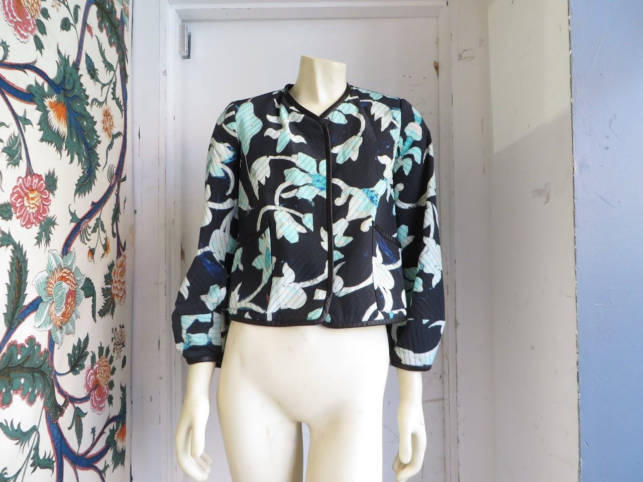 Oscar de la Renta Quilted Floral Jacket