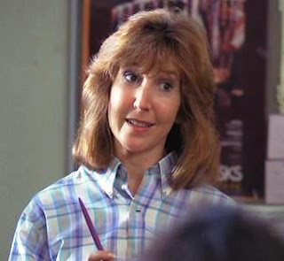 The talented actress Lin Shaye as the perky teacher. Later I would star with and direct Lin in films.