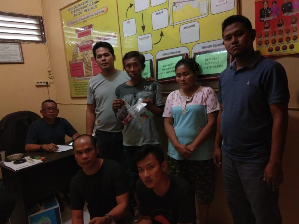 Lagi Asyik Pesta Shabu, 4 Pelaku Diamankan Unit Reskrim Polsek Teluk Mengkudu