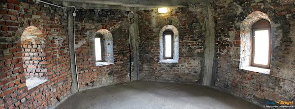 wnętrze wieży latarniczej Twierdzy Wisłoujście w Gdańsku