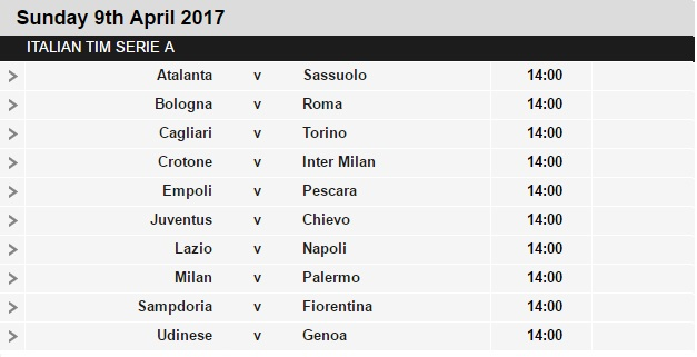 Serie%2BA%2Bschedule%2B31 Planning a Football Trip to Italy - SERIE A FIXTURES 2016/17