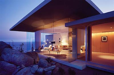 Casa Finisterra 6 Rumah Minimalis Indah Di Tebing Batu