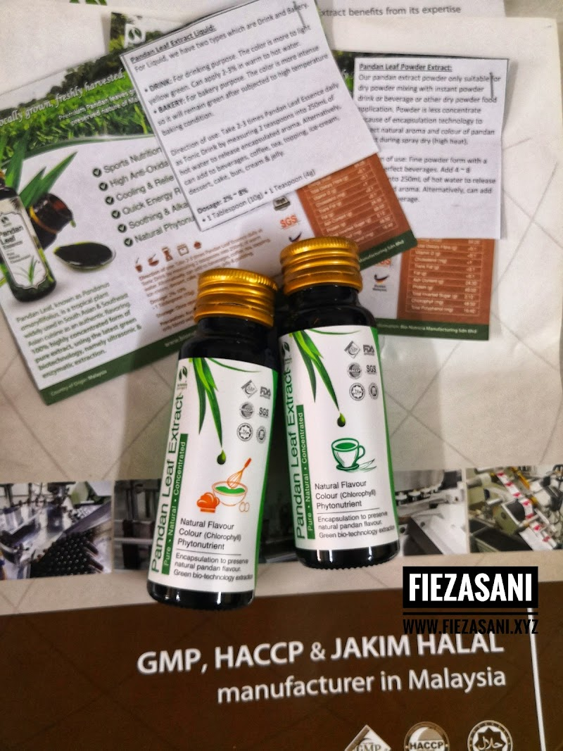 Pandan Leaf Essence Untuk Jadi Minuman Tonik Harian dan BAKING