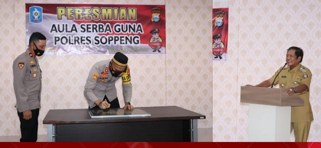 Dihadiri Bupati Soppeng, Polres Soppeng Gelar Peresmian Gedung Aula Serbaguna