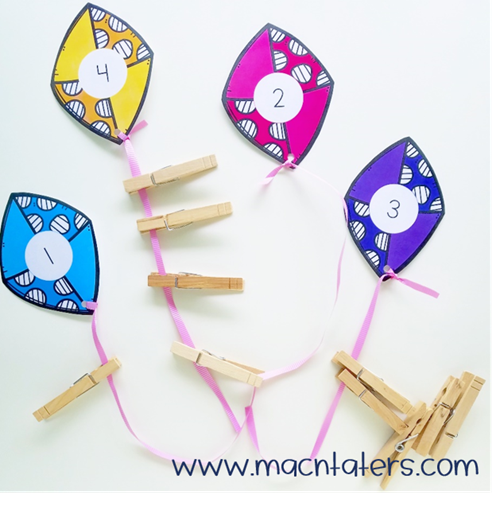Kite Tail Fine Motor Counting Activity
