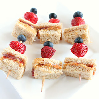 Peanut Butter and Jelly Skewers.