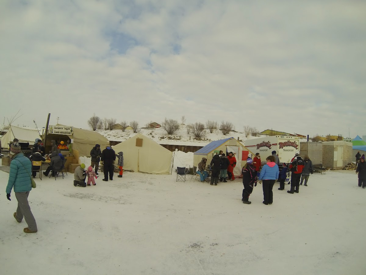 Food Stands on the MackEnzie River ice road