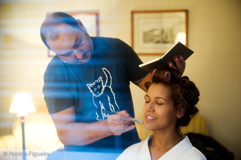 Foto de casamento 0022 de Luciene e Rodrigo. Marcações: 11/09/2009, Beto Carramanhos, Casamento Luciene e Rodrigo, Fotos de Making of, Making of, Rio de Janeiro.
